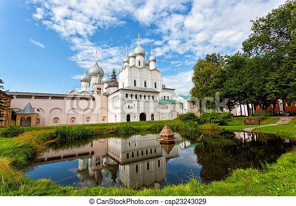 dourado, rostov, kremlin, anel, território, rússia - csp23243029