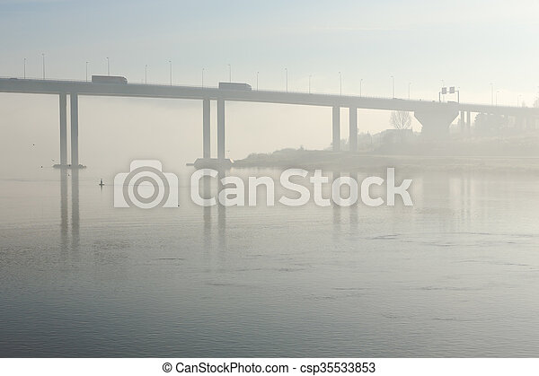 douro, brume, matin - csp35533853