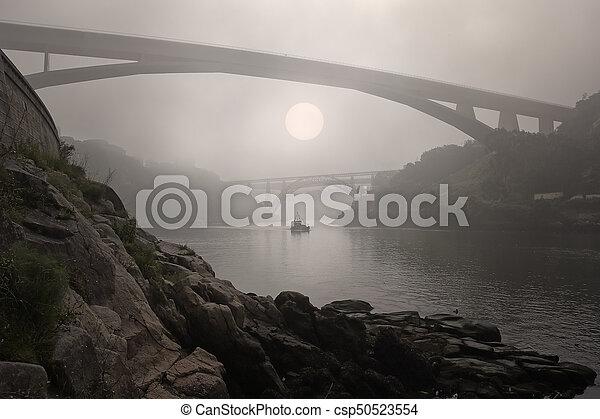 douro, brumeux, rivière - csp50523554
