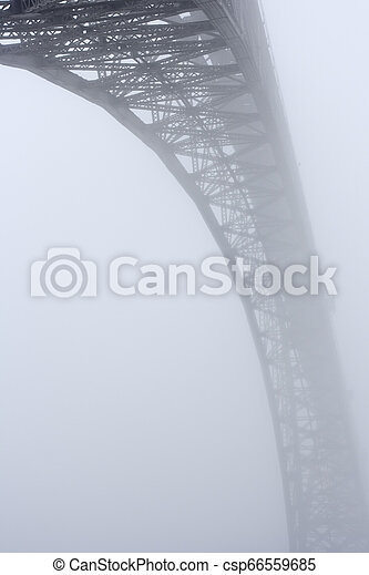 douro, pont, brume, vieux, rivière - csp66559685