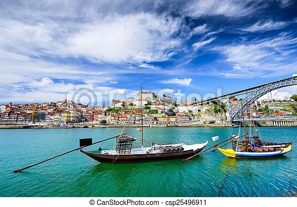douro, rivière, lisbonne, portugal, vue - csp25496911