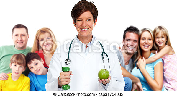 doutor., família - csp31754032