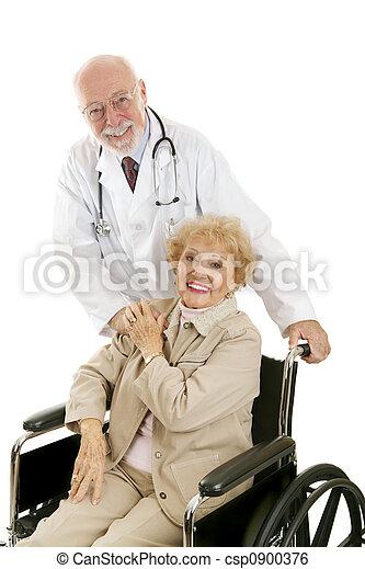 doutor, paciente, amigável, & - csp0900376