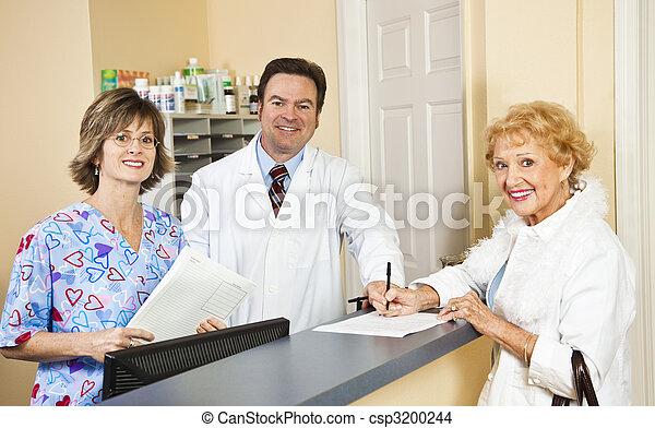 doutor, paciente, cumprimentar, pessoal - csp3200244