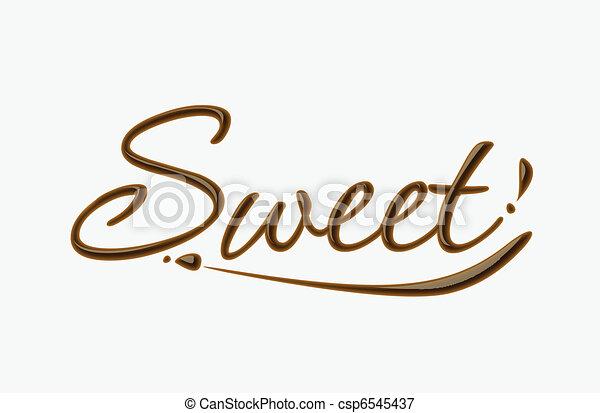 doux, chocolat, texte - csp6545437