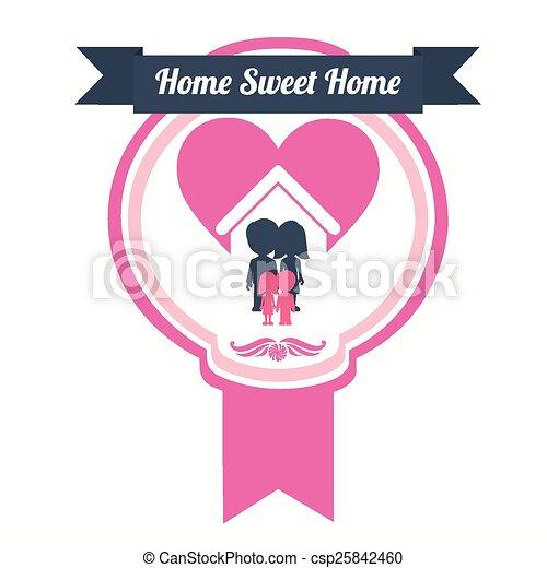 doux, conception, maison - csp25842460