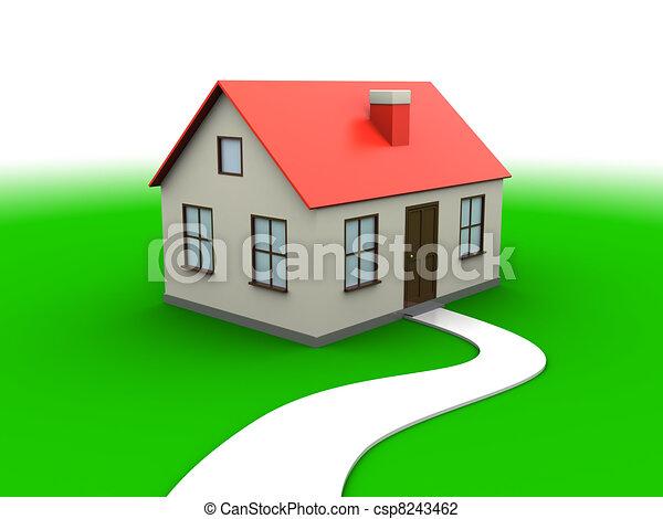 Doux maison pr maison r sum illustration arri re for Sweet home 3d italiano