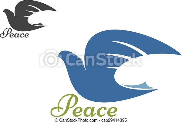 Dove Blue Silhouette As A Symbol Of Peace Dove Bird Blue Eps