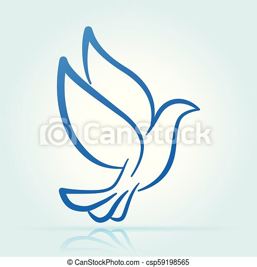 dove design on white background - csp59198565