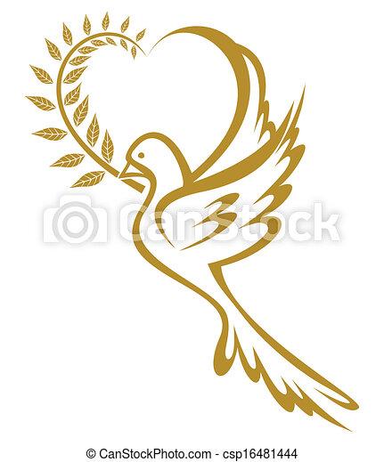 Dove of Peace - csp16481444