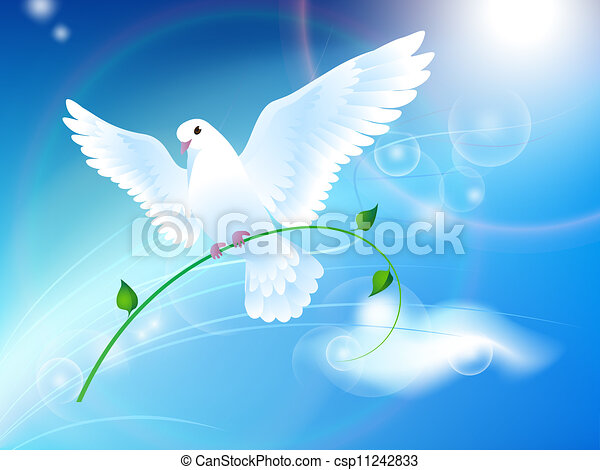 Dove of Peace in the sky - csp11242833