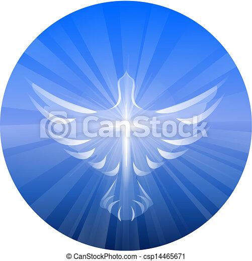 Dove Representing God's Holy Spirit - csp14465671