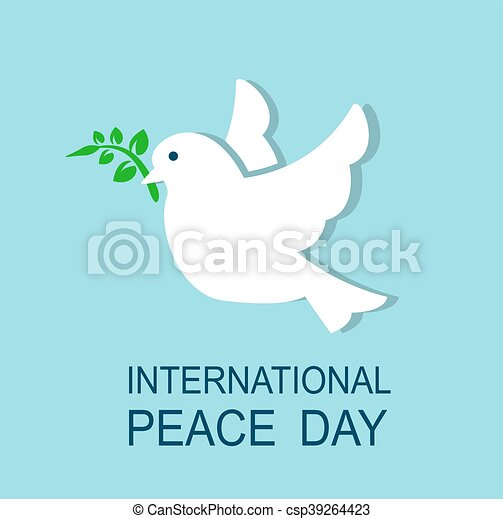 Dove Symbol Of Peace Dove Flying And Holding In Its Beak A