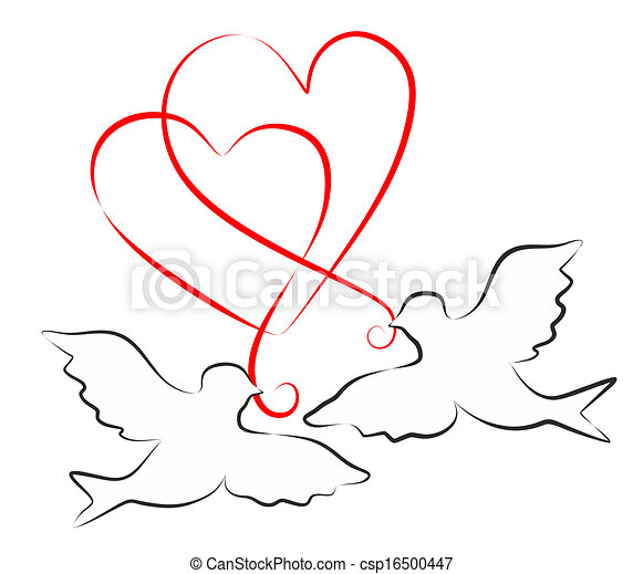 Doves and hearts - csp16500447