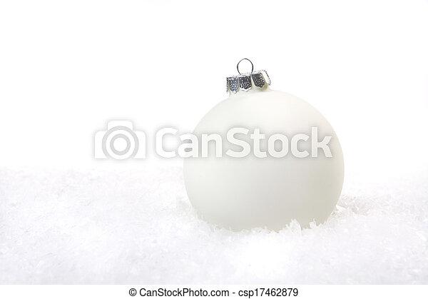 dovolená, okrasa, sněžit, vánoce - csp17462879