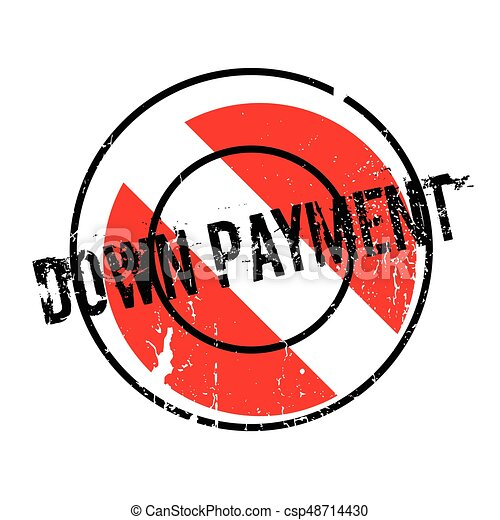 Down Payment rubber stamp - csp48714430