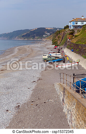 Downderry beach Cornwall Looe - csp15372345