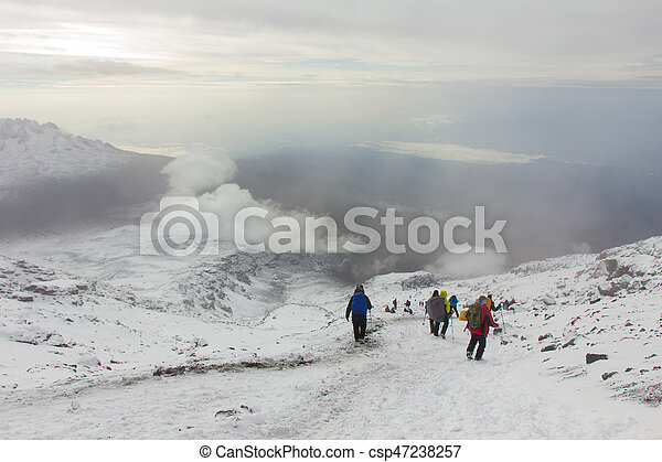Downhill from the summit of Kilimanjaro - csp47238257
