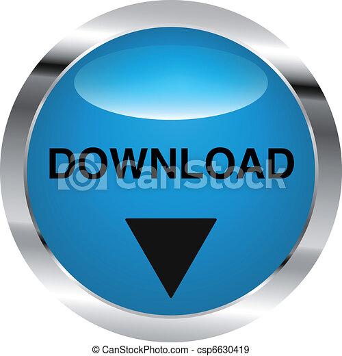 download, aço, botão - csp6630419