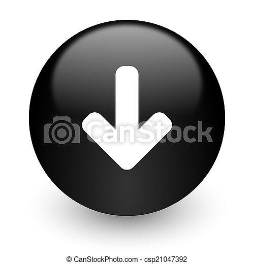download arrow black glossy internet icon - csp21047392