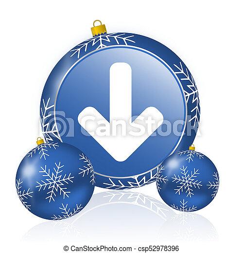 Download arrow blue christmas balls icon - csp52978396