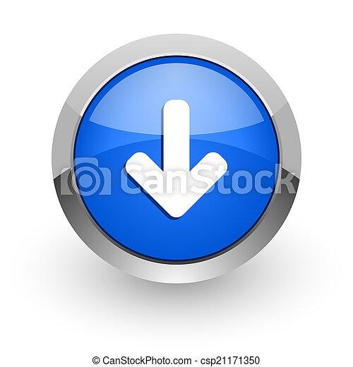 download arrow blue glossy web icon - csp21171350