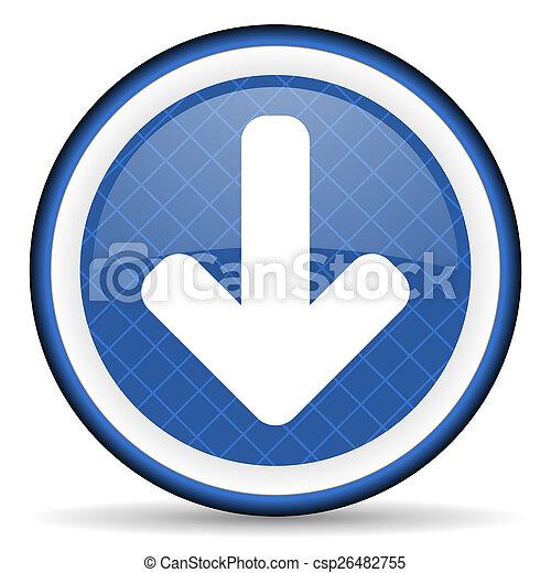 download arrow blue icon arrow sign - csp26482755
