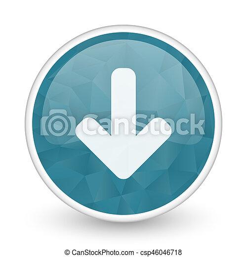 Download arrow brillant crystal design round blue web icon. - csp46046718