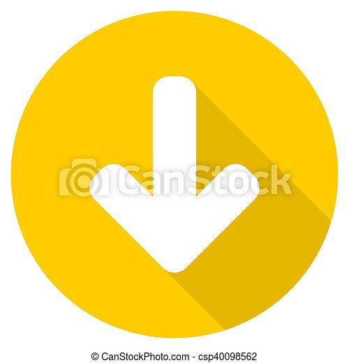 download arrow flat design yellow web icon - csp40098562