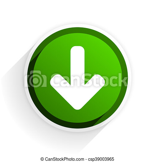 download arrow flat icon with shadow on white background, green modern design web element - csp39003965