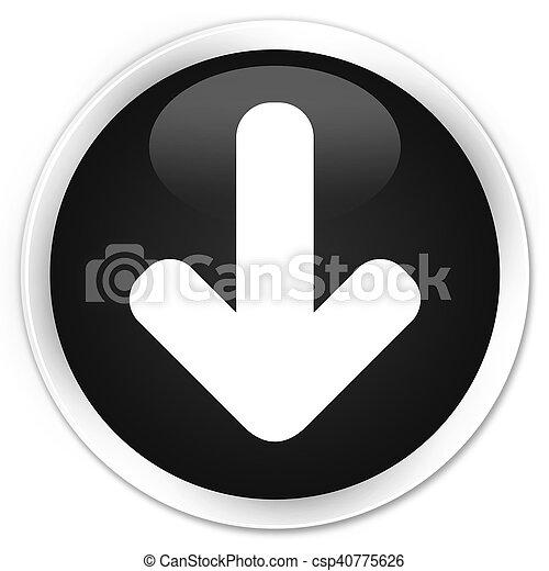 Download arrow icon black glossy round button - csp40775626