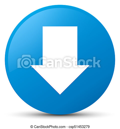 Download arrow icon cyan blue round button - csp51453279