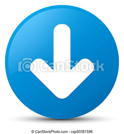 Download arrow icon cyan blue round button - csp50381596