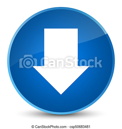 Download arrow icon elegant blue round button - csp50683481