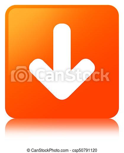 Download arrow icon orange square button - csp50791120