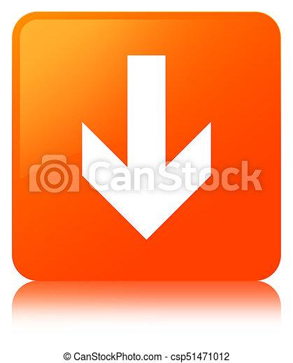 Download arrow icon orange square button - csp51471012