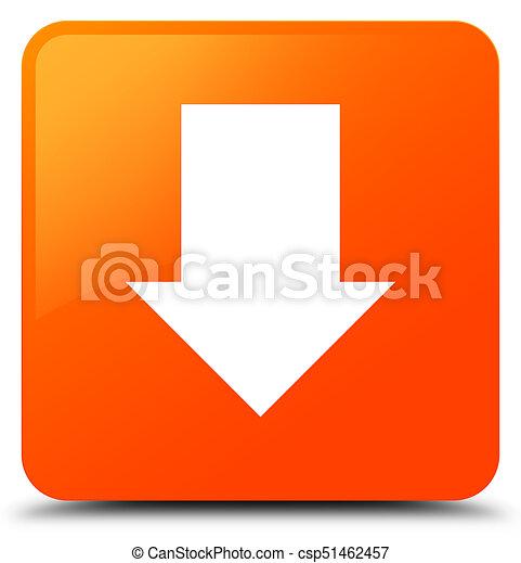 Download arrow icon orange square button - csp51462457