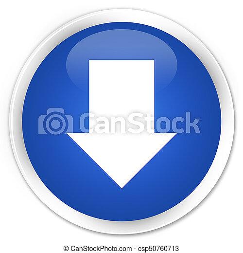 Download arrow icon premium blue round button - csp50760713