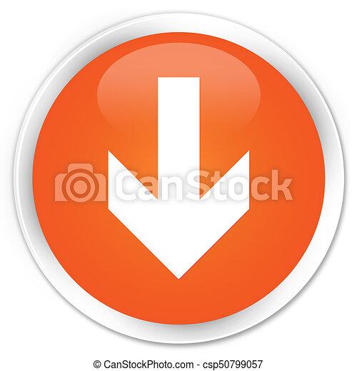 Download arrow icon premium orange round button - csp50799057