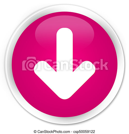 Download arrow icon premium pink round button - csp50059122