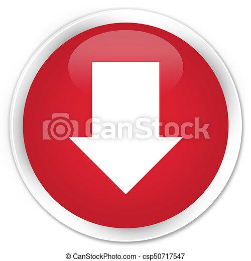 Download arrow icon premium red round button - csp50717547