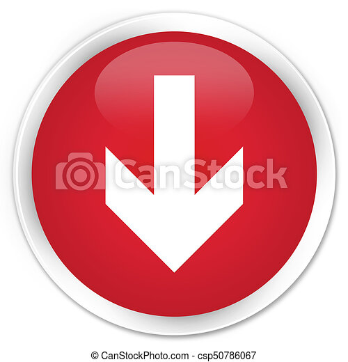 Download arrow icon premium red round button - csp50786067
