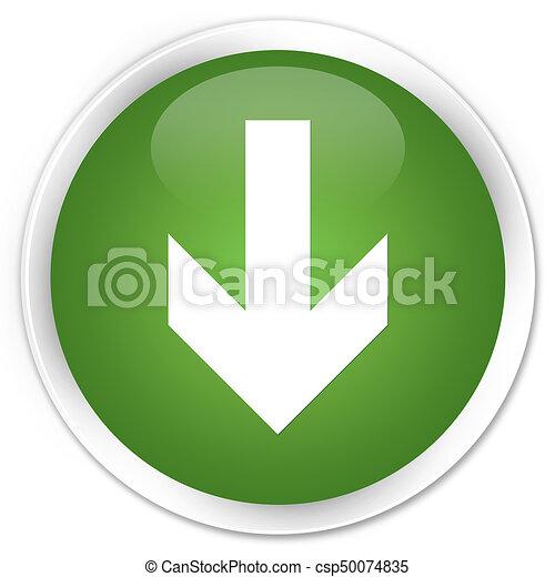 Download arrow icon premium soft green round button - csp50074835