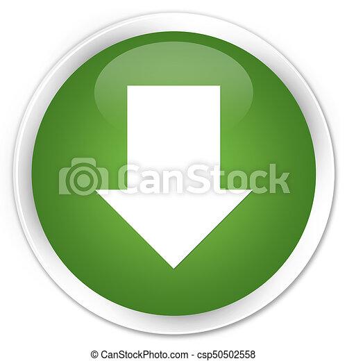 Download arrow icon premium soft green round button - csp50502558