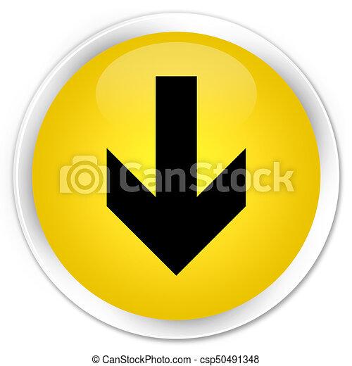 Download arrow icon premium yellow round button - csp50491348