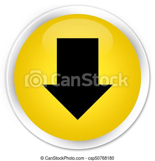 Download arrow icon premium yellow round button - csp50768180