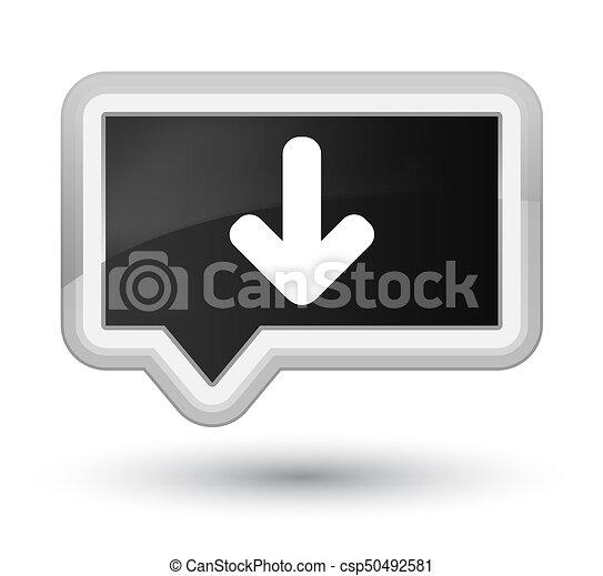Download arrow icon prime black banner button - csp50492581