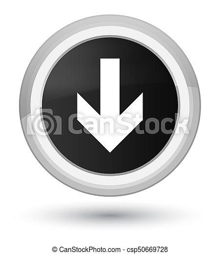 Download arrow icon prime black round button - csp50669728