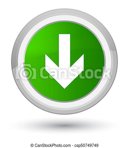 Download arrow icon prime green round button - csp50749749