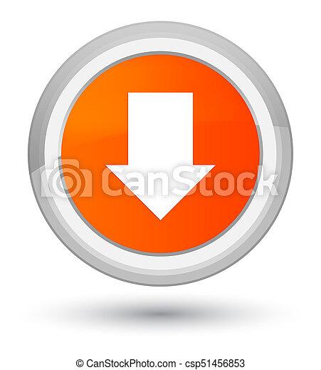 Download arrow icon prime orange round button - csp51456853
